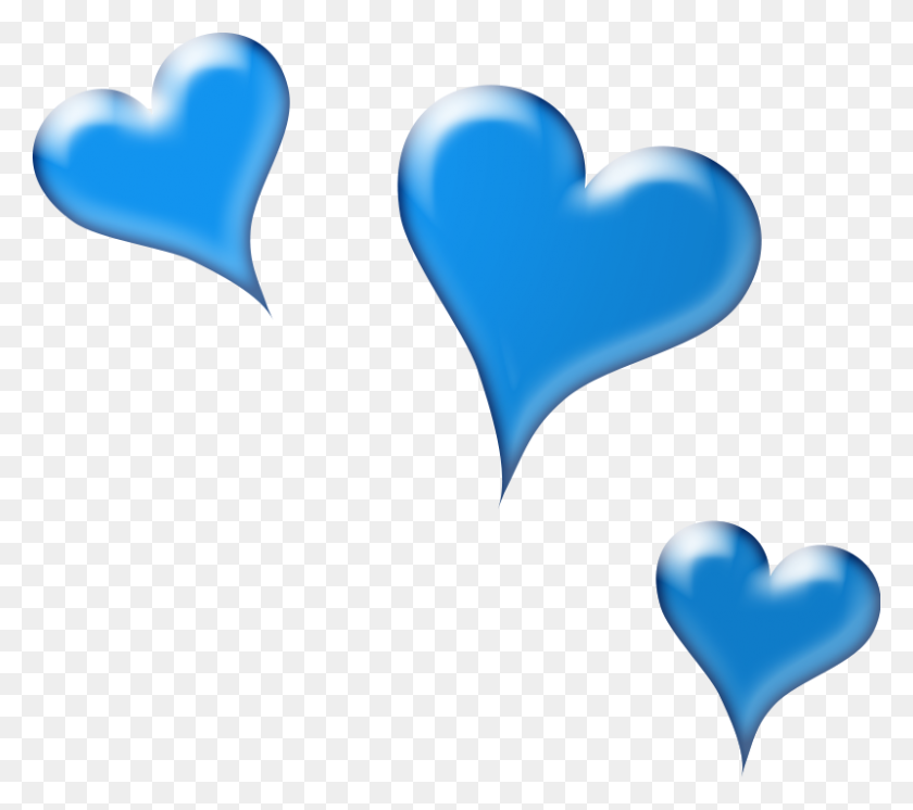 Blue Love Birds On A Branch Clip Art - Two Hearts Clipart