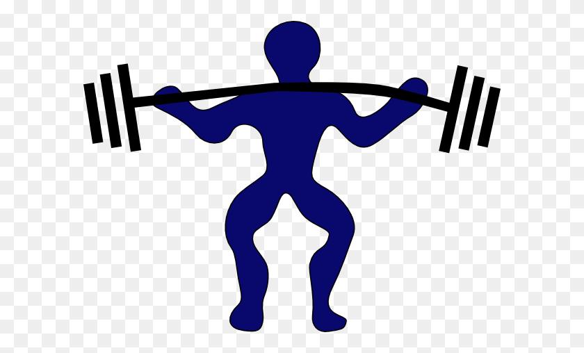 Blue Man Weightlifting Clip Art - Weight Lifting Clipart