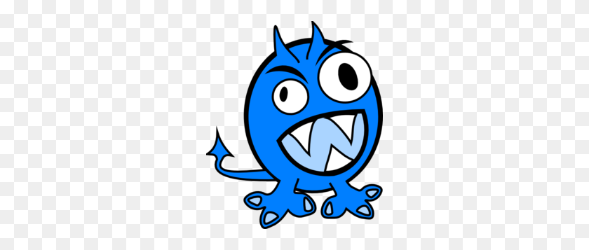 252x297 Blue Monster Clip Art - Monster Face Clipart