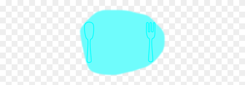 Blue On Blue Place Setting Clip Art - Plate Setting Clipart