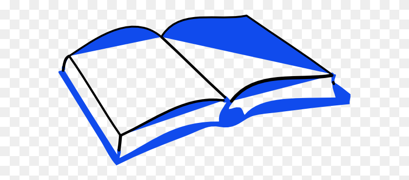 Blue Open Book Clip Arts Download - Open Book Clip Art