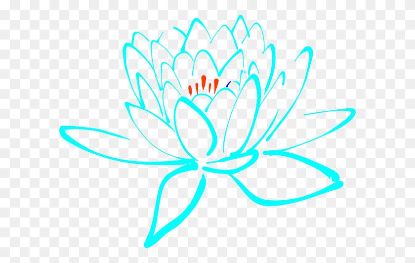 Blue Orange Lotus Png, Clip Art For Web - Lotus Clipart