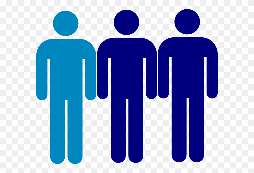 600x515 Blue Person Symbol Two Thirds Clip Art - Two People Clipart