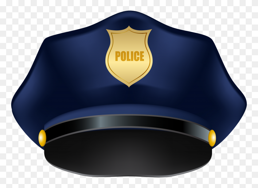 Blue Police Hat Png Clip Art - Police Badge Clipart