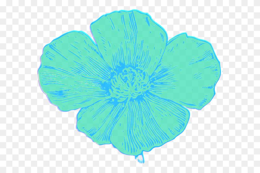 Blue Poppy Clip Art - Poppy Clipart