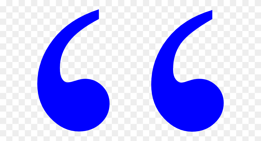 Blue Quotation Marks Clip Art - Quotation Marks Clipart