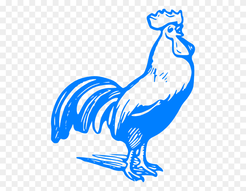 492x594 Blue Rooster Blue Rooster Clip Art - Rooster Clipart