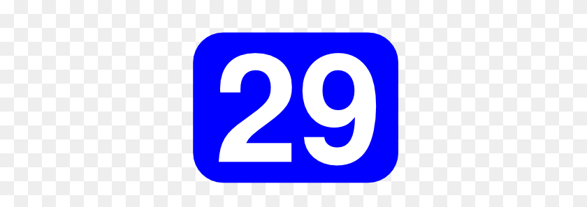 Blue Rounded Rectangle With Number Clip Art - Number 13 Clipart