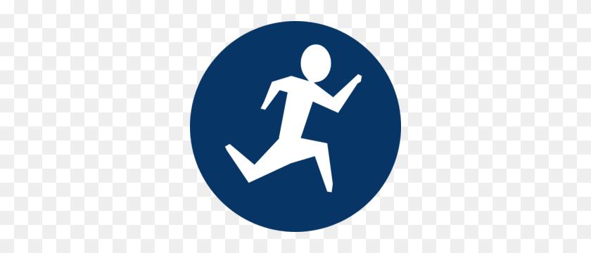 Blue Running Man Clip Art - Running Man Clipart