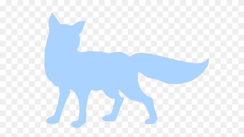 600x412 Blue Shy Fox Silhouette Clip Art - Arctic Fox Clipart