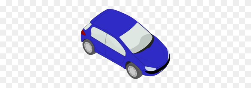 299x237 Blue Small Car Clip Art - Cop Car Clipart