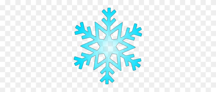 Blue Snow Flake Clip Art - Snow Clipart