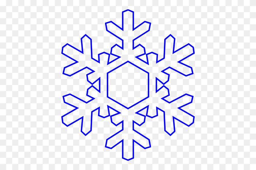 Blue Snowflake - Snowflake Border PNG