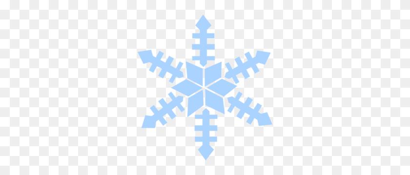Blue Snowflake Clip Art - Silver Snowflake Clipart