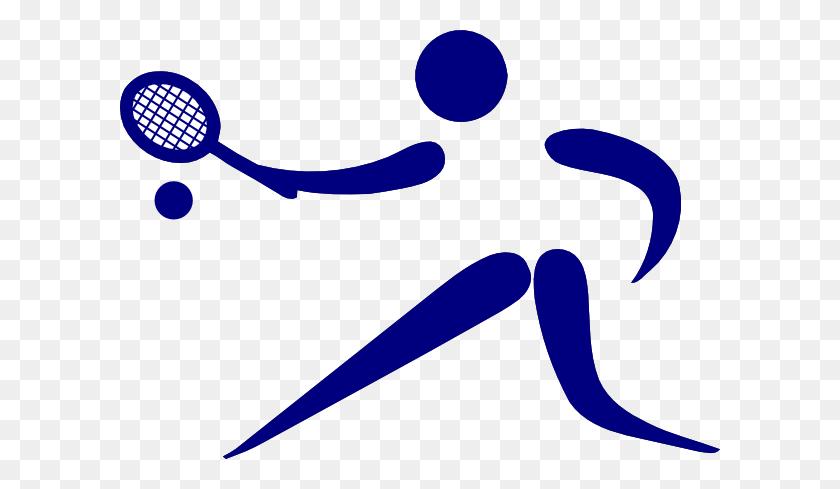 Blue Tennis Player Clip Art - Loop Clipart