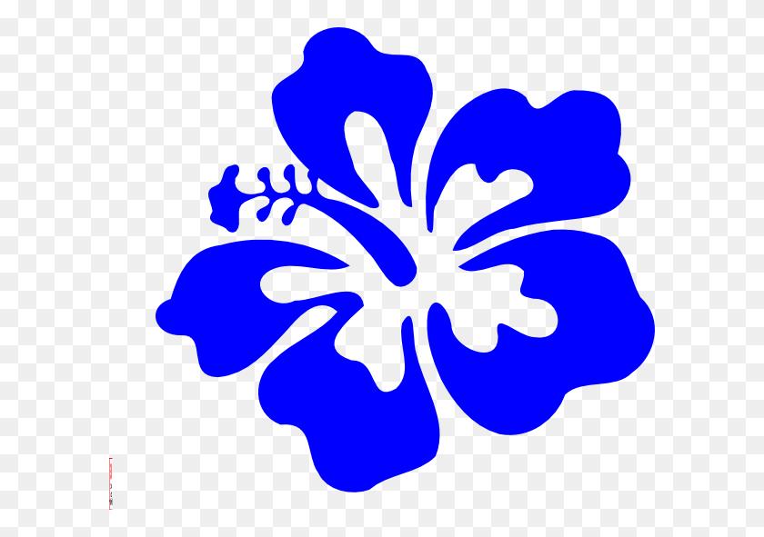 Blue Tropical Flower Clip Arts Download - Tropical Border Clipart