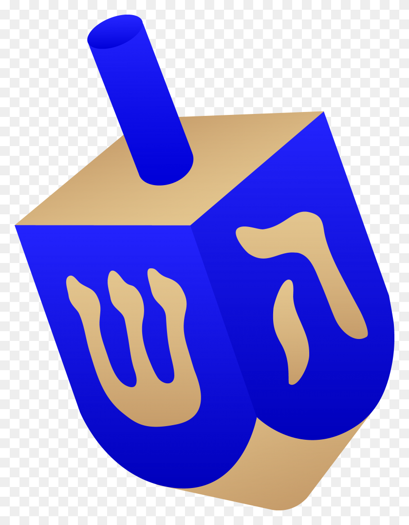 5319x6947 Blue Wooden Dreidel Temple Shalom Of Northwest Arkansas - Arkansas Clipart