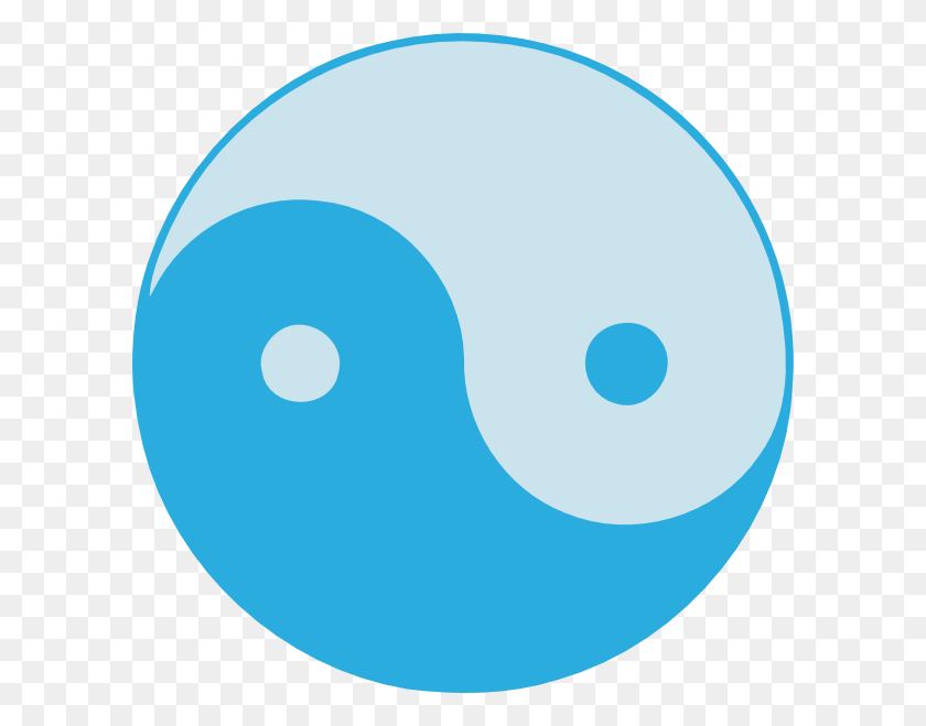 Blue Yin Yang Clip Art Free Vector - Yin Yang Clipart