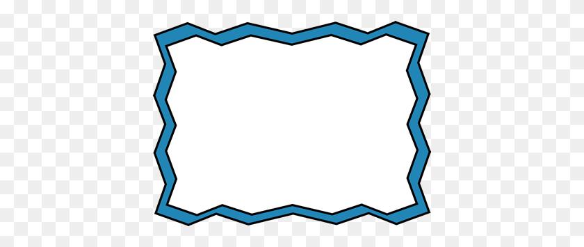 Blue Zig Zag Frame Clip Art Frame, Frame Clipart - Blue Frame Clipart