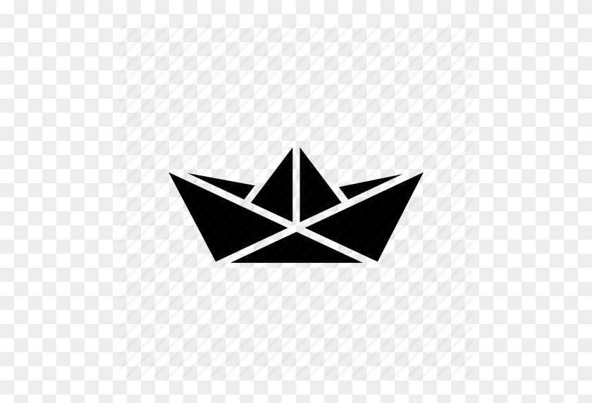 Boat, Folded, Origami, Paper, Ship, Toy Icon - Paper Boat PNG