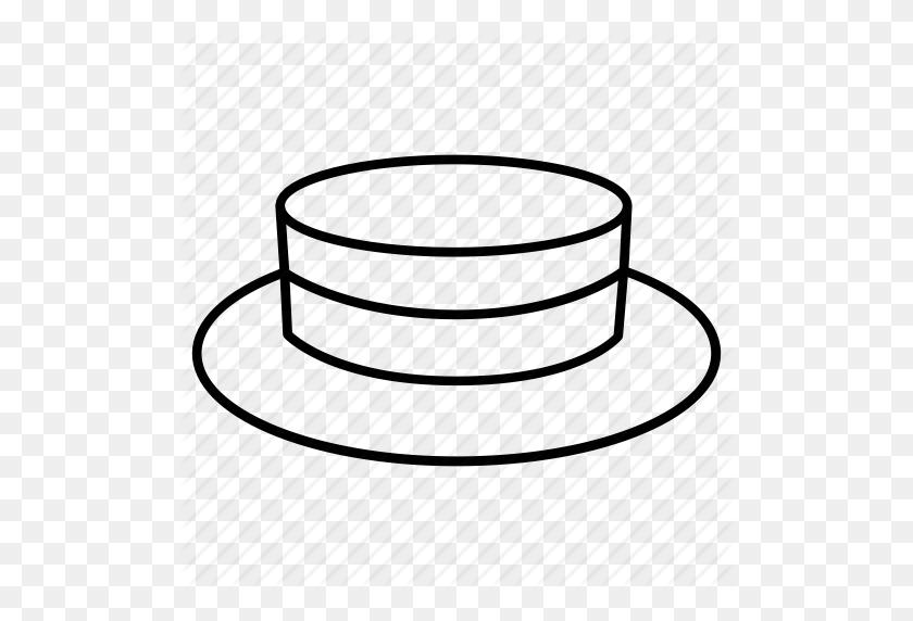 Boater, Hat, Headwear, Men, Picnic, Straw, Summer Icon - Straw Hat Clipart