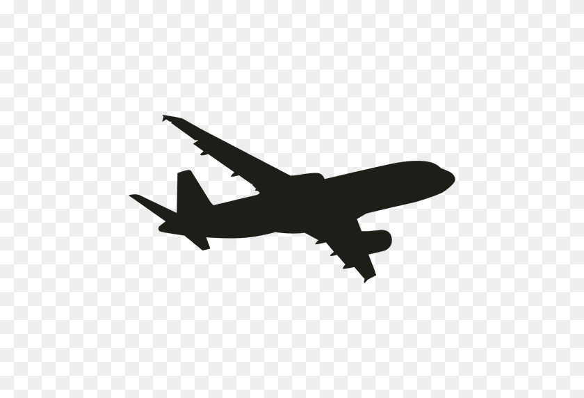 flying silhouette airplane clipart