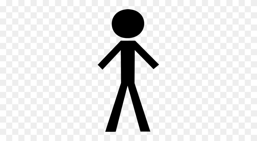Bold Black Stick Figure Transparent Png - People Standing PNG