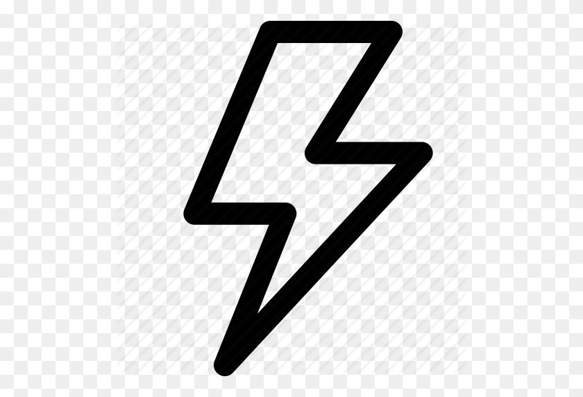 Bolt, Charge, Electricity, Lightning, Lightning Strike Icon - White Lightning PNG