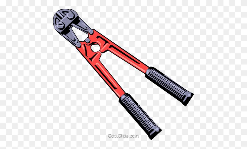 Bolt Cutters Royalty Free Vector Clip Art Illustration - Bolt Clipart