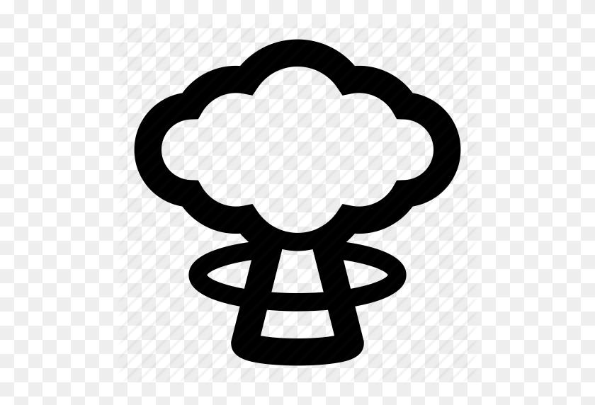 Bomb, Cloud, Explosion, Mushroom Cloud, Nuclear, Radiation, War Icon - Mushroom Cloud Clipart