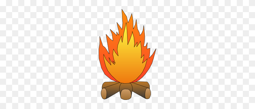 190x300 Bonfire Clipart Free - Free Cookout Clipart