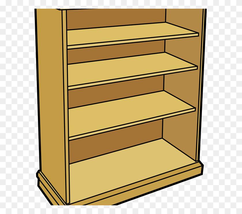 Book Shelves Clip Art At Clkercom Vector Clip Art, Bookshelves - Transparent Book Clipart