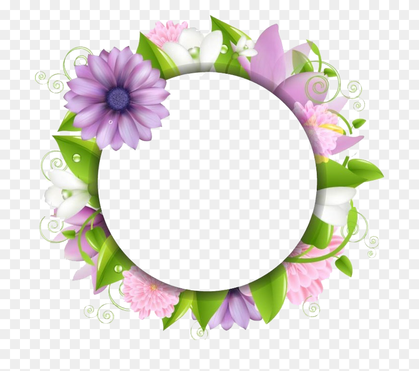 700x684 Border Flowers Clip Art - Free Floral Border Clipart