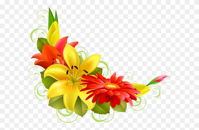 Bordures,tubes Coins,corners Png Flowers Flowers - Wild Flowers PNG
