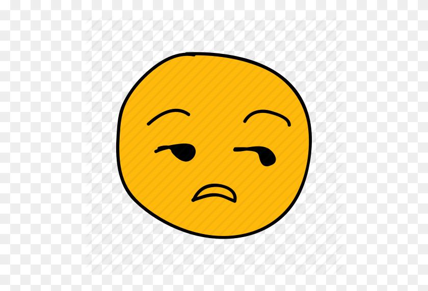 Bored, Drawn, Emoji, Face, Hand, Meh, Messenger Icon - Meh Emoji PNG