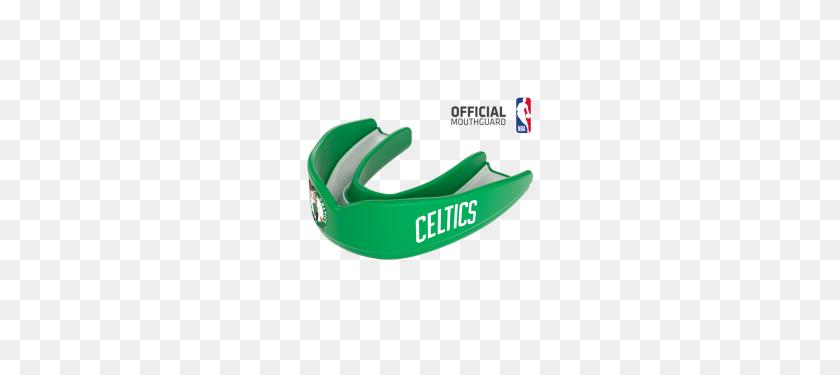 Boston Celtics Nba Basketball Mouthguard Shock Doctor - Celtics Logo PNG