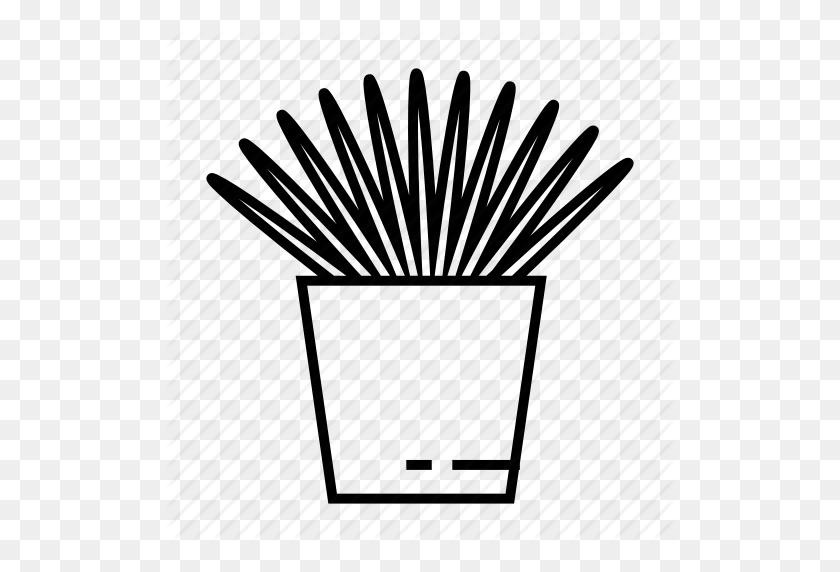Botanic, Floral, Grass, Home Plant, House Plant, Pot, Tropical Icon - Tropical Plants PNG