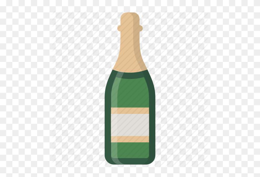 Bottle With Popping Cork Emoji - Champagne Emoji PNG