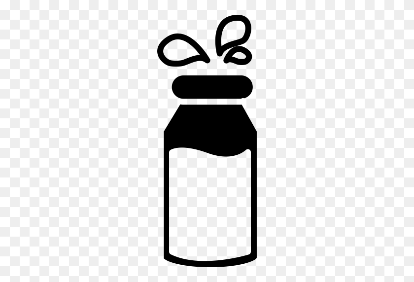 Bottle Of Milk With Droplets, Bottle Of Milk, Cow Milk Icon - Milk PNG