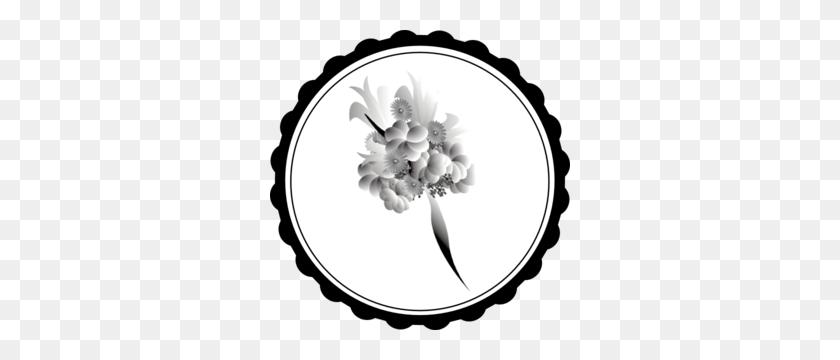 Bouquet Black White Clip Art - Wedding Bouquet Clipart