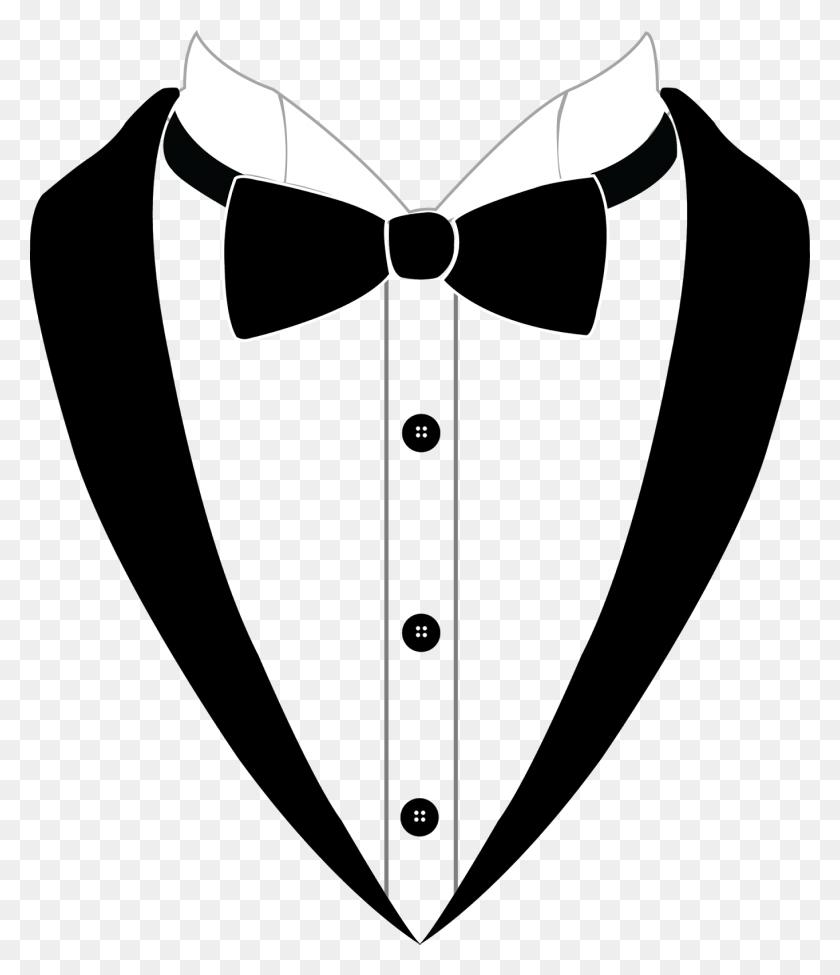 Bow Tie Tuxedo Suit Black Tie - Black Tie PNG