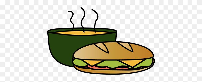 450x283 Bowl Clipart Soup Sandwich - Meatball Sandwich Clipart