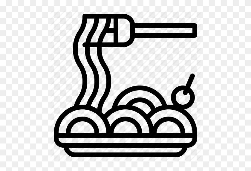 Bowl, Dish, Food, Italian, Pasta, Plate, Spaghetti Icon - Plate Of Spaghetti Clipart