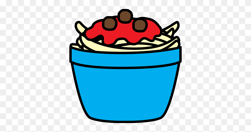 376x383 Bowl Of Spaghetti Clip Art - Meatball Sandwich Clipart