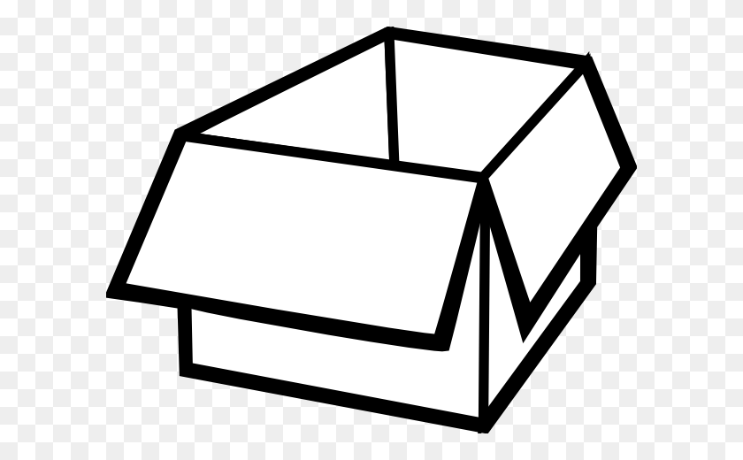 Box Clipart Black And White Box Outline Clip Art - Music Box Clipart