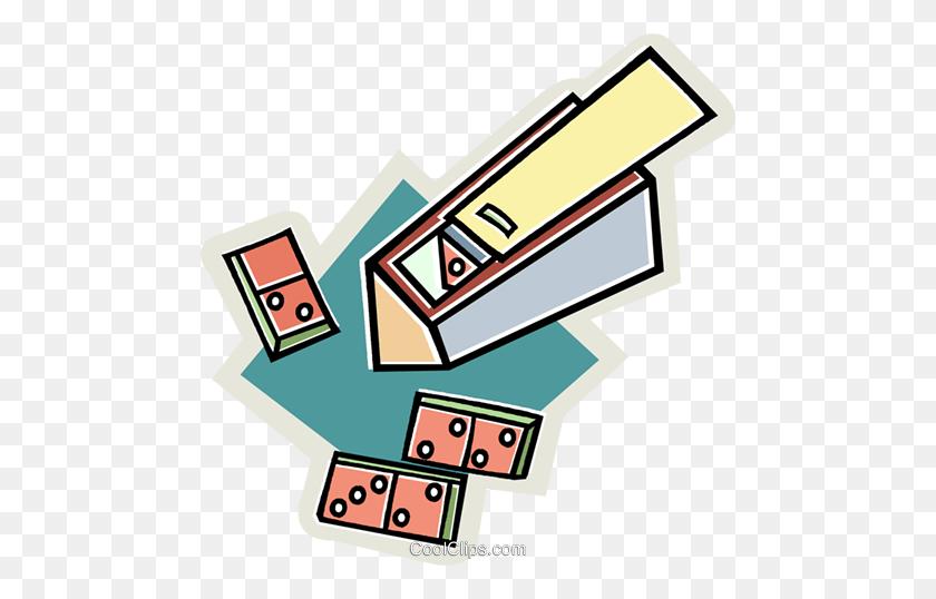 Box Of Dominoes Royalty Free Vector Clip Art Illustration - Domino Clipart