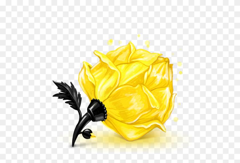 Box Rose Yellow Icon Cubes Art Iconset Klukeart - Yellow Roses PNG