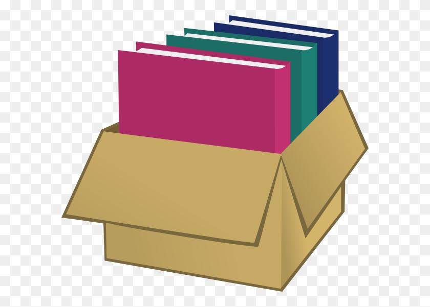 Box With Folders Clip Art - Manila Folder Clipart