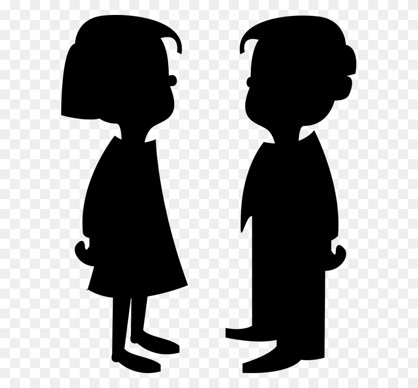 593x720 Boy And Girl Silhouette Clipart Clip Art Images - Newspaper Boy Clipart