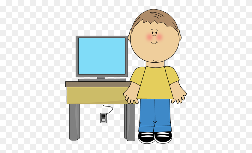 Boy Classroom Computer Technology Expert Clip Art - Science And Technology Clipart